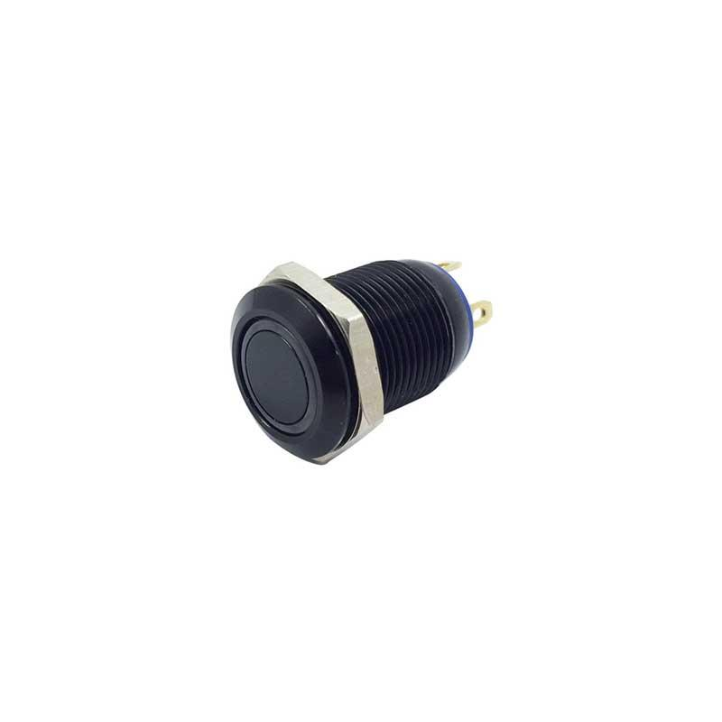 12mm 2A//36VDC Car Boat Blue LED Metal Push Button Momentary Waterproof Switch AU